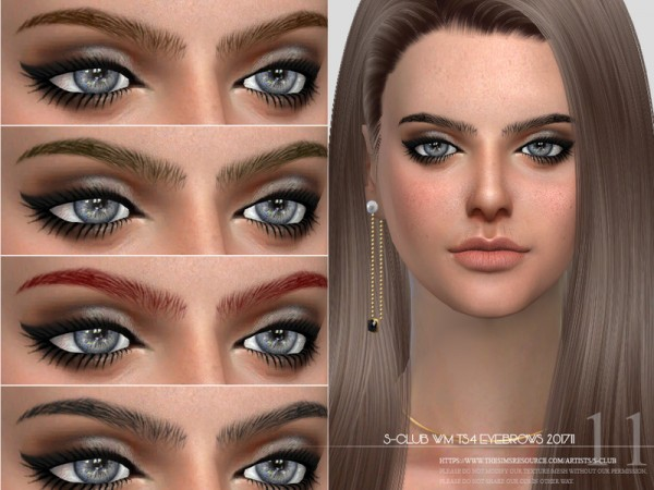 The Sims Resource: Eyebrows F 201711 by S Club