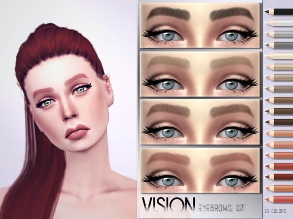 The Sims Resource: Vision Eyebrows V07 by .Torque