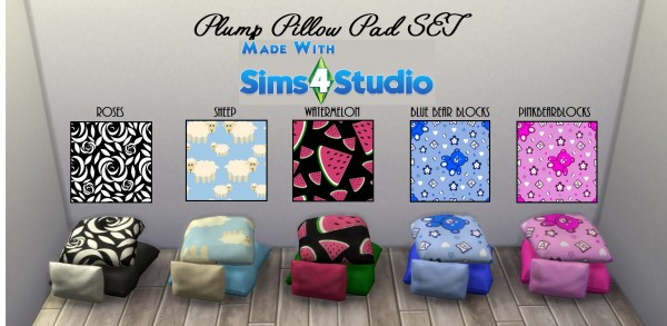 Mod The Sims: Plump Pillow Pad SET 20 Patterns by wendy35pearly