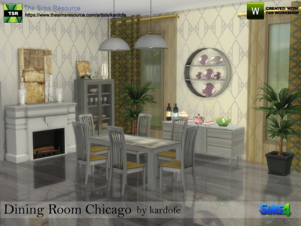 The sims resource dining room chicago by kardofe sims 4 downloads - Dining room furniture chicago ...