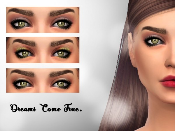 The Sims Resource: Dreams Come True Eyeshadow N01 by To MS