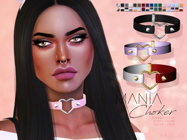 The Sims Resource: Mania Choker by Pralinesims
