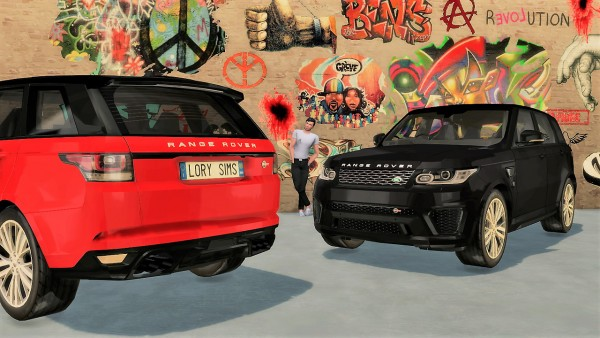 lory sims land rover range rover sport svr sims 4 downloads. Black Bedroom Furniture Sets. Home Design Ideas