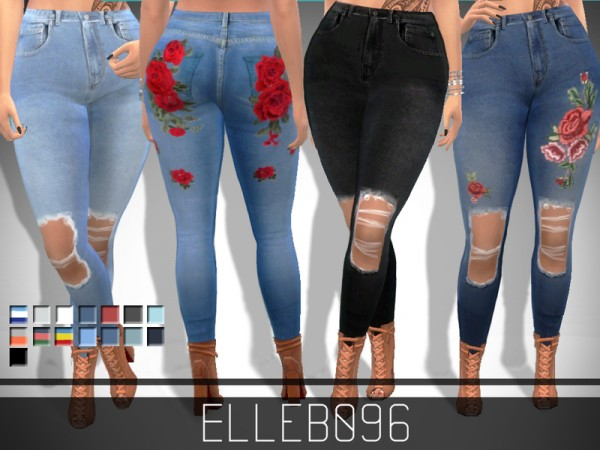 The Sims Resource: Trendy Ripped Jeans by Elleb096