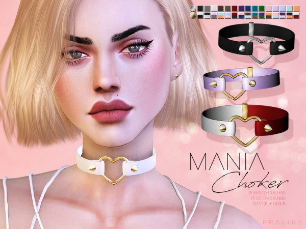 The Sims Resource: Mania Choker by Pralinesims