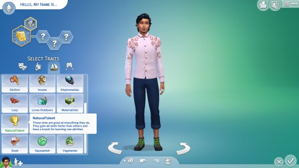 Mod The Sims: Natural Talent Trait by Amayka