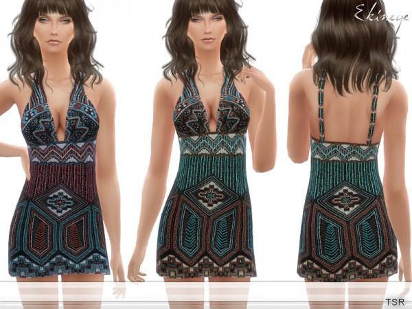 The Sims Resource: Beaded Mini Dress by ekinege