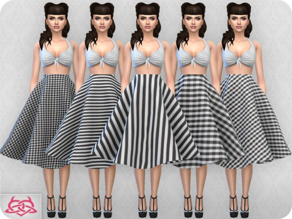 The Sims Resource: Vintage Basic skirt 2 recolor 2 by Colores Urbanos