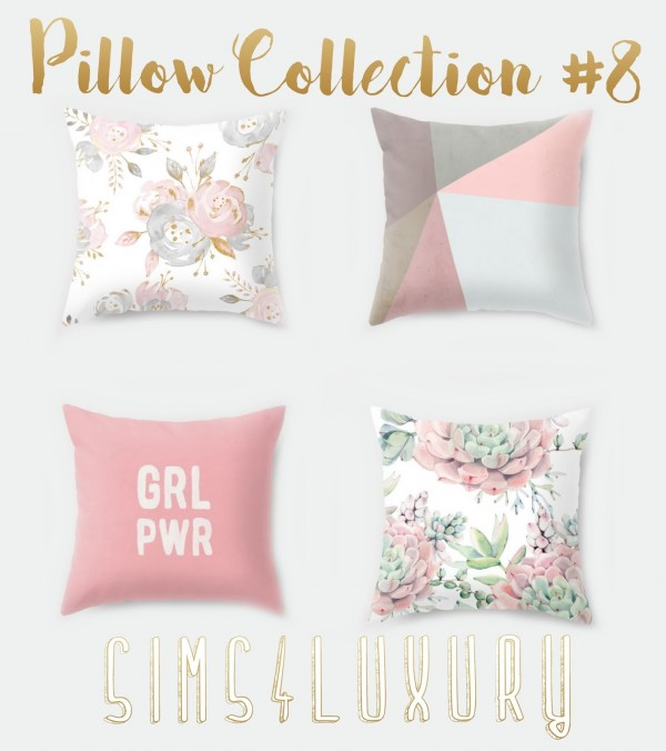 Sims4luxury Pillow Collection 8 Sims 4 Downloads