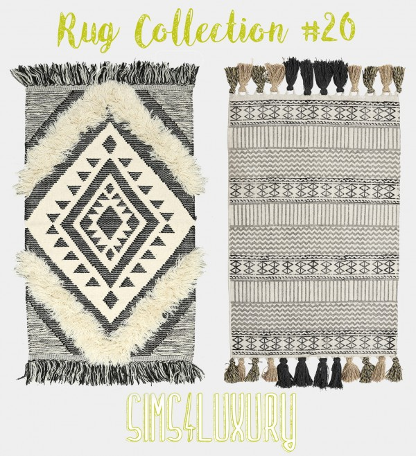 Sims4Luxury: Rug collection 20