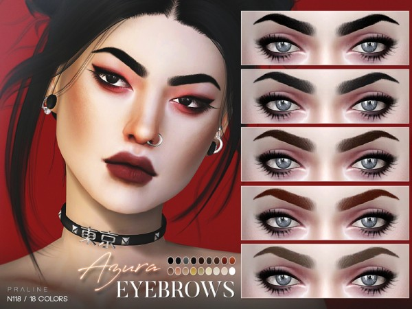 The Sims Resource: Azura Eyebrows N118  by Pralinesims