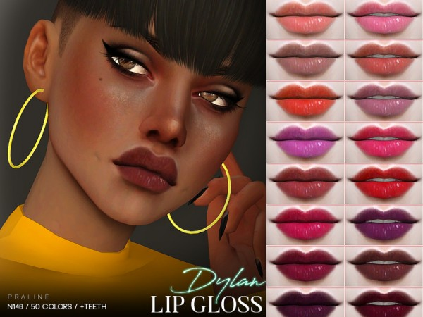 The Sims Resource: Dylan Lip Gloss N146 by Pralinesims