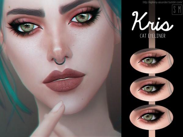The Sims Resource: Kris    Cat Eyeliner by Screaming Mustard