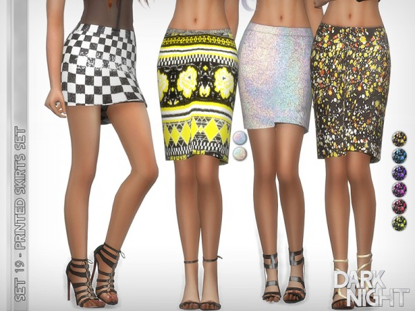 The Sims Resource: SET 19   Printed Skirts Set by DarkNighTt