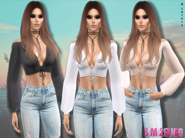 The Sims Resource: 340   Boho Top by sims2fanbg