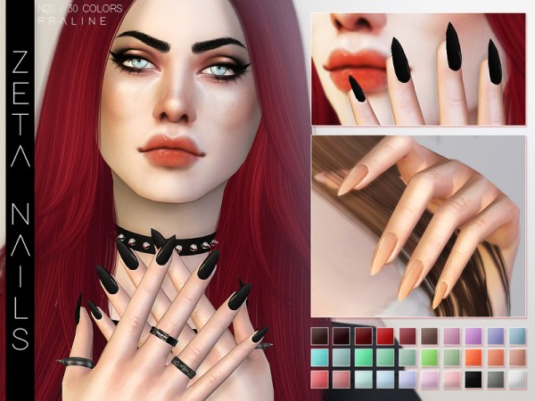 The Sims Resource: Zeta Nails by Pralinesims