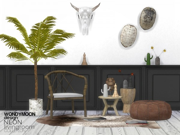 The Sims Resource: Neon Livingroom Decorations by wondymoon