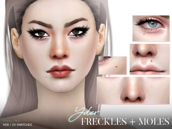 The Sims Resource: Yder Freckles and Moles N08 by Pralinesims