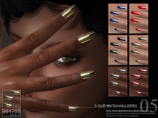 The Sims Resource: Nails 201705 by S Club