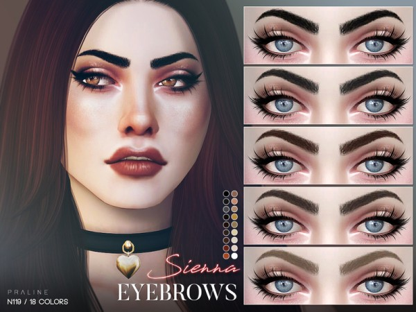 The Sims Resource: Sierra Eyebrows N119 by Pralinesims