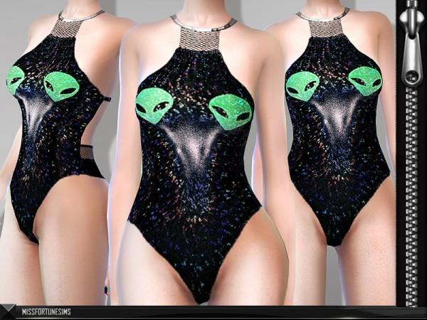 The Sims Resource: Alien Bodysuit by MissFortune