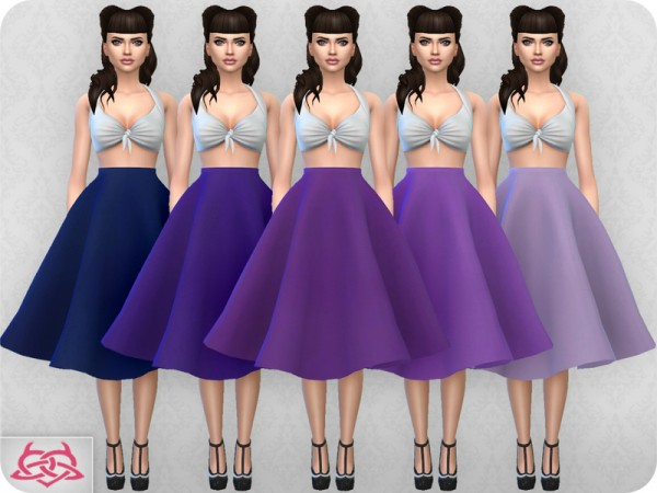 The Sims Resource: Vintage Basic skirt 2 by Colores Urbanos