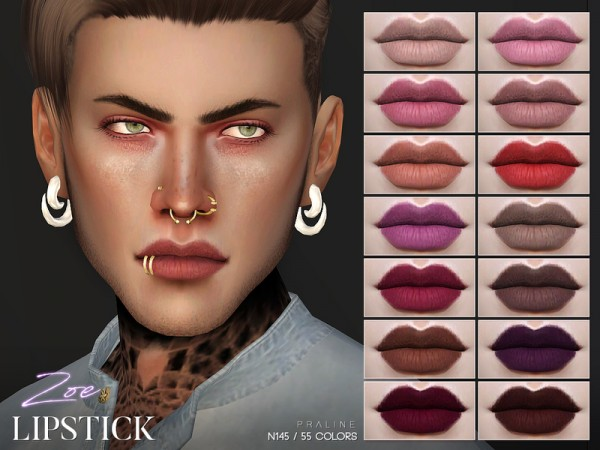 The Sims Resource: Zoe Lipstick N145 by Pralinesims