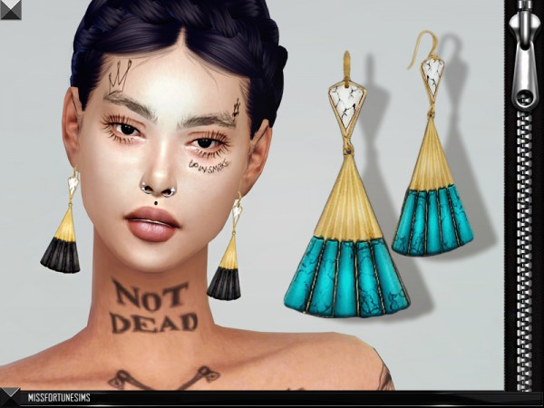 The Sims Resource: MFS Violet Earrings by MissFortune