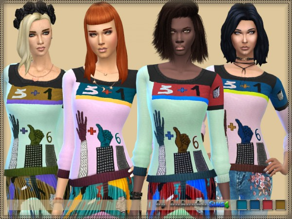 The Sims Resource: Sweater Female by bukovka