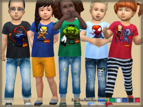 The Sims Resource: Shirt Marvel by bukovka