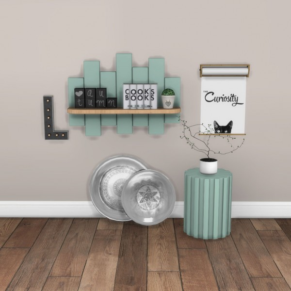 Leo 4 Sims: Shelf and Side Table