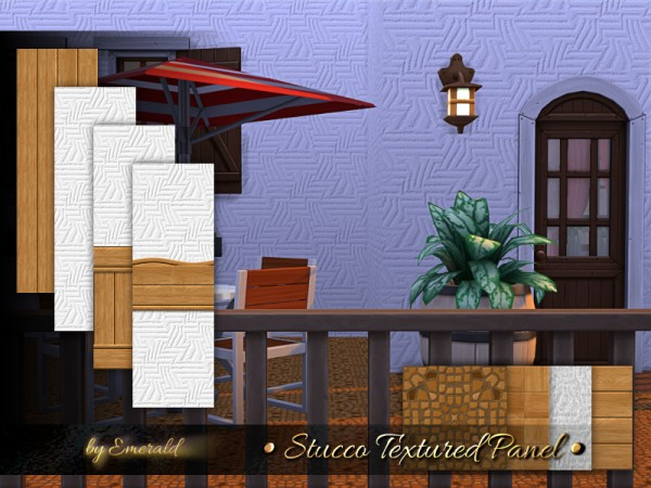 The Sims Resource: Stucco Textured Panel by emerald