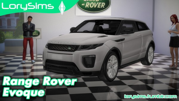 lory sims land rover range rover evoque sims 4 downloads. Black Bedroom Furniture Sets. Home Design Ideas