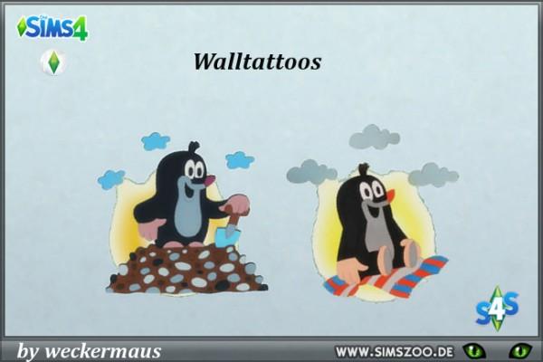 Blackys Sims 4 Zoo: Kidsroom wall tattoos by weckermaus