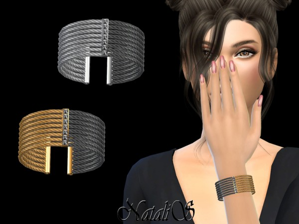 The Sims Resource: Two tone Cable Cuff by NataliS