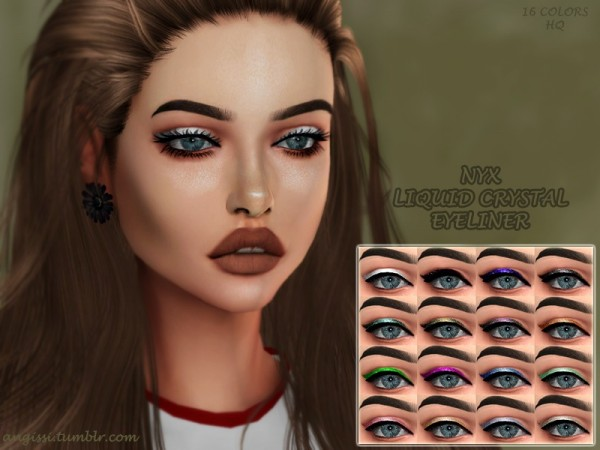 The Sims Resource: Liquid crystal eyeliner by ANGISSI