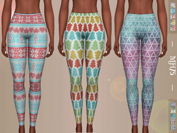 The Sims Resource: Cosy Leggings 10 versions by Margeh 75