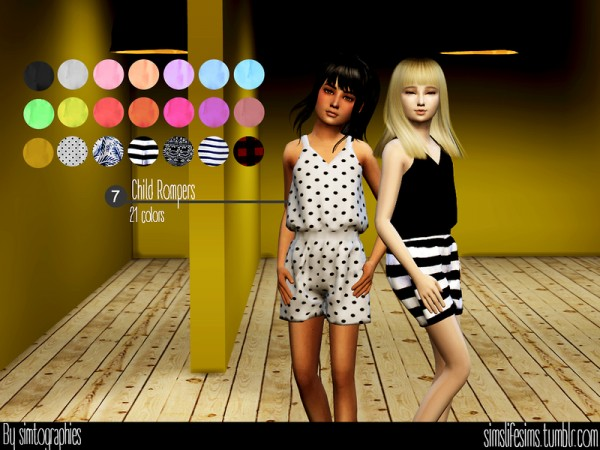 The Sims Resource: Child Rompers by simtographies