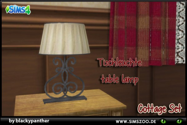 Blackys Sims 4 Zoo: Cottage Set table lampe by blackypanther