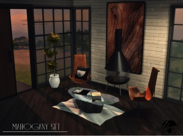 Sims 4 Designs: Mahogany Mini Set livingroom