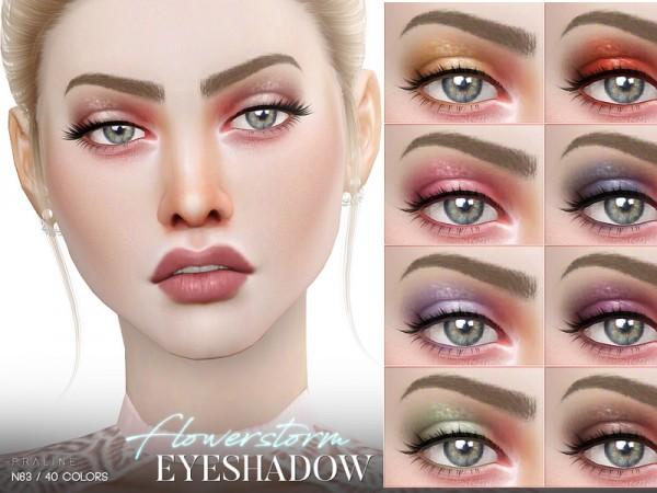 The Sims Resource: Flowerstorm Eyeshadow N63 by Pralinesims