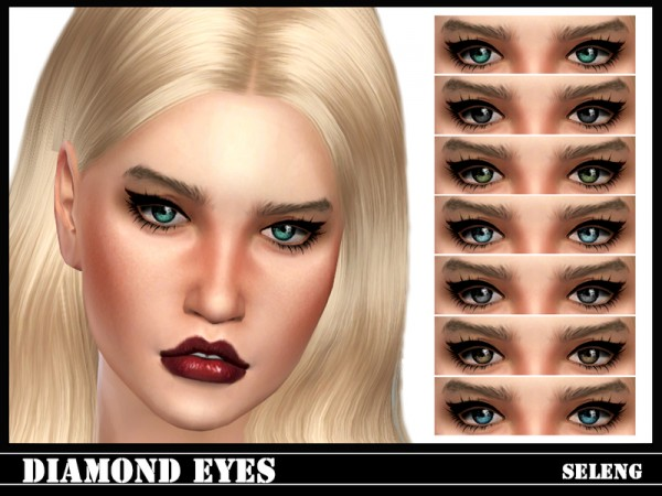 The Sims Resource: Diamond Eyes by Seleng