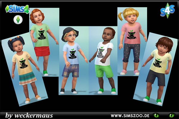 Blackys Sims 4 Zoo: Toddlers t shirts panhter by weckermaus