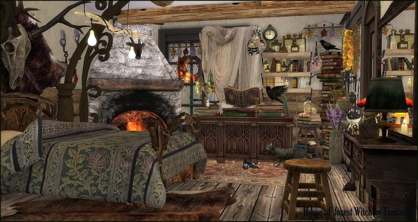 Tanitas Sims House Of The Forest Witch Sims 4 Downloads