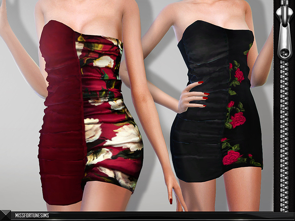 The Sims Resource: MFS Rumi Dress by MissFortune