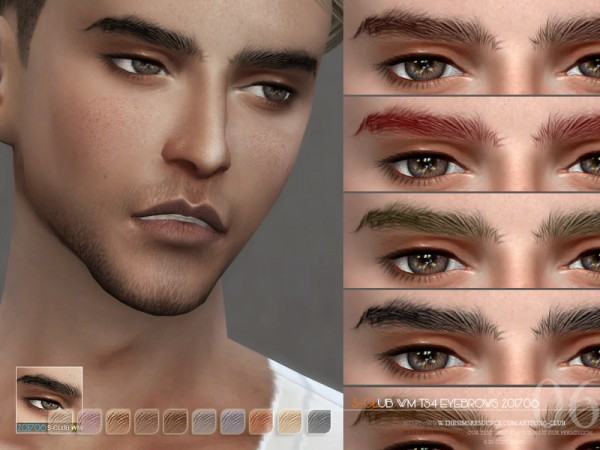 The Sims Resource: Eyebrows M 201706 by S Club