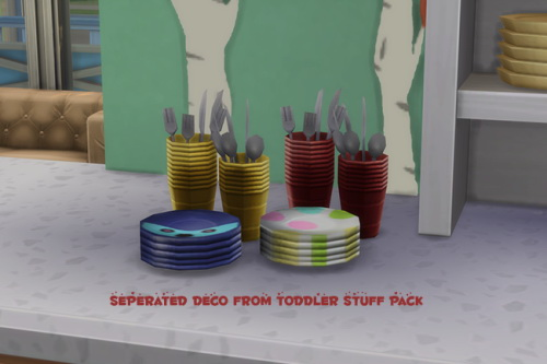 Chillis Sims: Toddler Pack Clutter