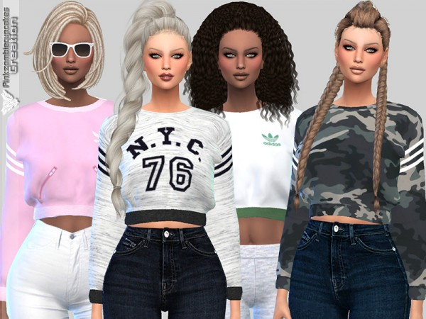 The Sims Resource: Sweatshirts Collection 010 by Pinkzombiecupcakes