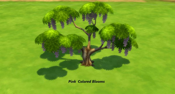 Mod The Sims Wisteria Wisteria Tree By Snowhaze Sims 4