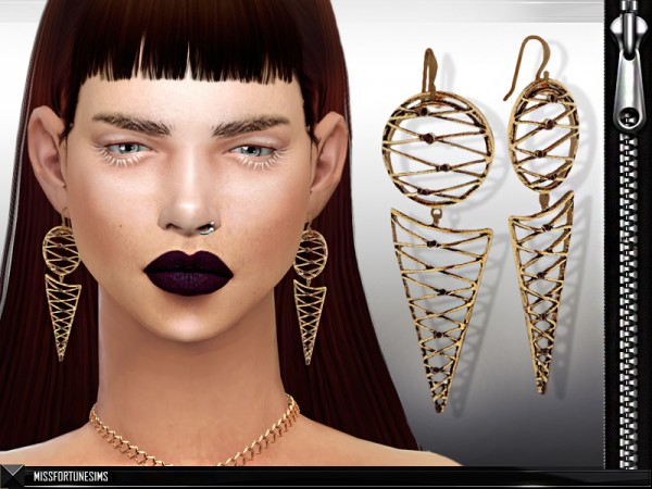 The Sims Resource: Annie Earrings by MissFortune